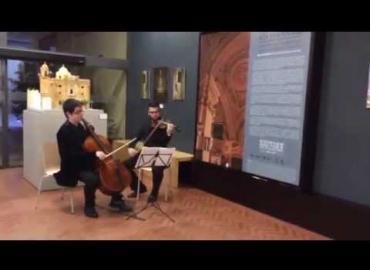 Actuación durante la presentación del catálogo Vox Clamantis.